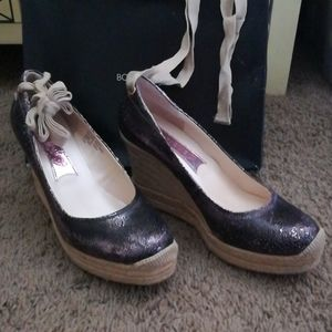 Boutique 9 purple wedges - NWT